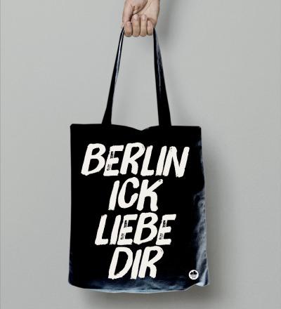 Beutel Berlin ick liebe dir Tasche Totebag