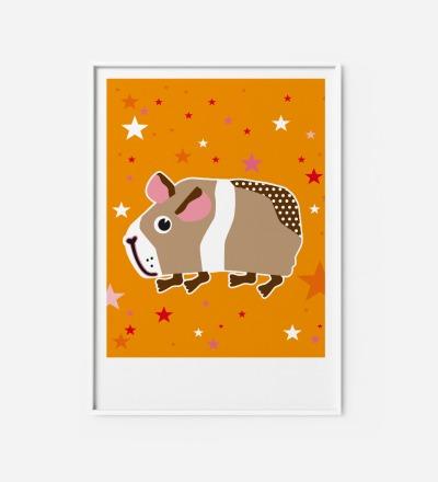 Kinderzimmerbild Meerschwein, Poster - Poster Kinderzimmerdekoration