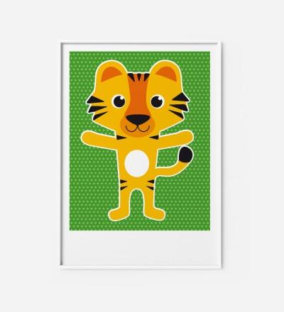 Kinderzimmerbild Tiger Poster - Poster Kinderzimmerdekoration