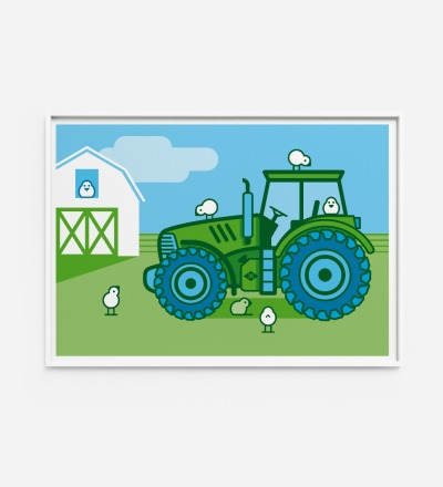 Kinderzimmerbild Traktor, Poster - Poster Kinderzimmerdekoration