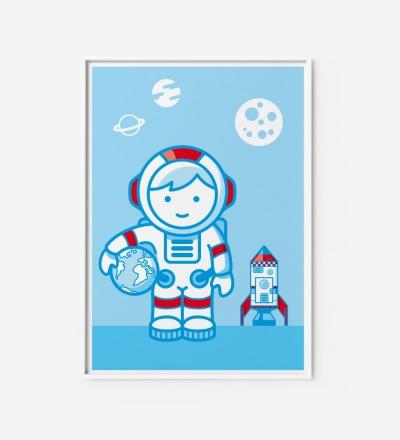 Kinderzimmerbild Astronaut, Poster - Poster Kinderzimmerdekoration