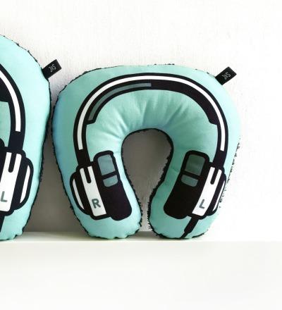 Kopfhörer Nackenkissen blau KIDS - Headphone neck pillow