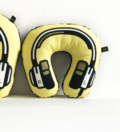 Kopfhörer Nackenkissen gelb KIDS - Headphone neck pillow