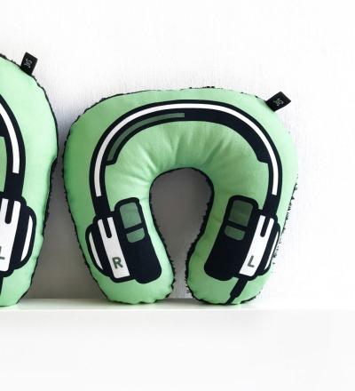 Kopfhörer Nackenkissen grün KIDS - Headphone neck pillow