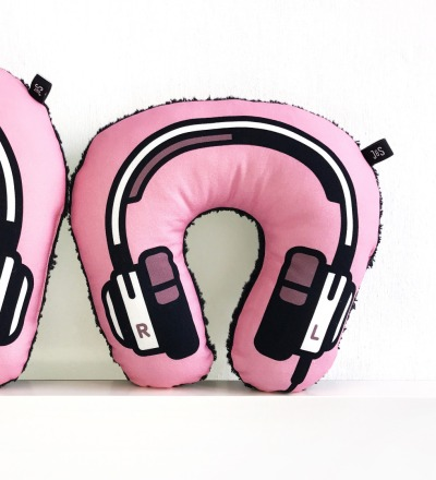 Kopfhoerer Nackenkissen rosa KIDS - Headphone neck pillow