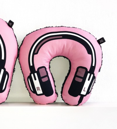 Kopfhoerer Nackenkissen rosa KIDS - Headphone neck pillow
