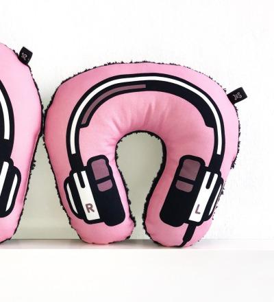 Kopfhörer Nackenkissen rosa KIDS - Headphone neck pillow