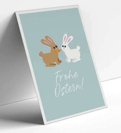 Postkartenset Frohe Ostern 5 Karten