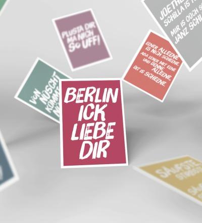 10 Postkarten Set // Berliner Mundart