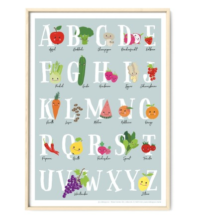 Veggi ABC Poster Plakat Kinderzimmerposter DIN