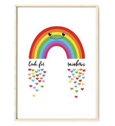 Regenbogen Poster Plakat Kinderzimmerposter - DIN A2