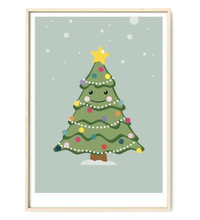 Weihnachtsbaum Poster - DIN A3