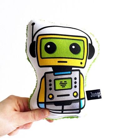 Roboter Telly klein mit Quietsche
