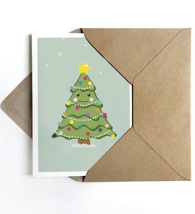 Grußkarte Weihnachtsbaum, Weihnachtskarte