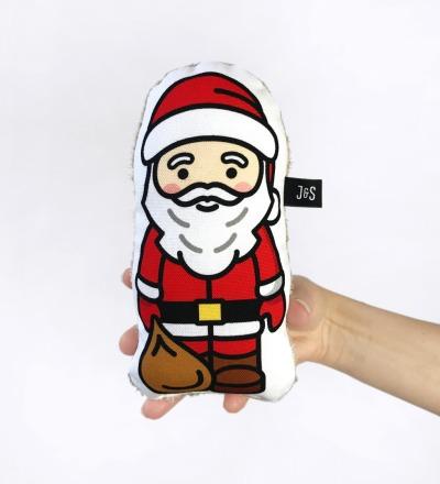 Weihnachtsmann Rassel , handlich und weich, Baby