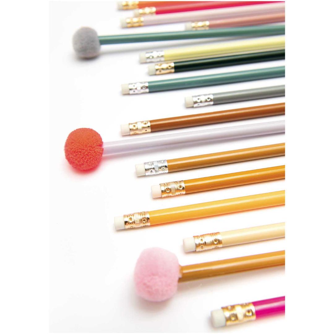 Bleistift mit POMPON gruen 2