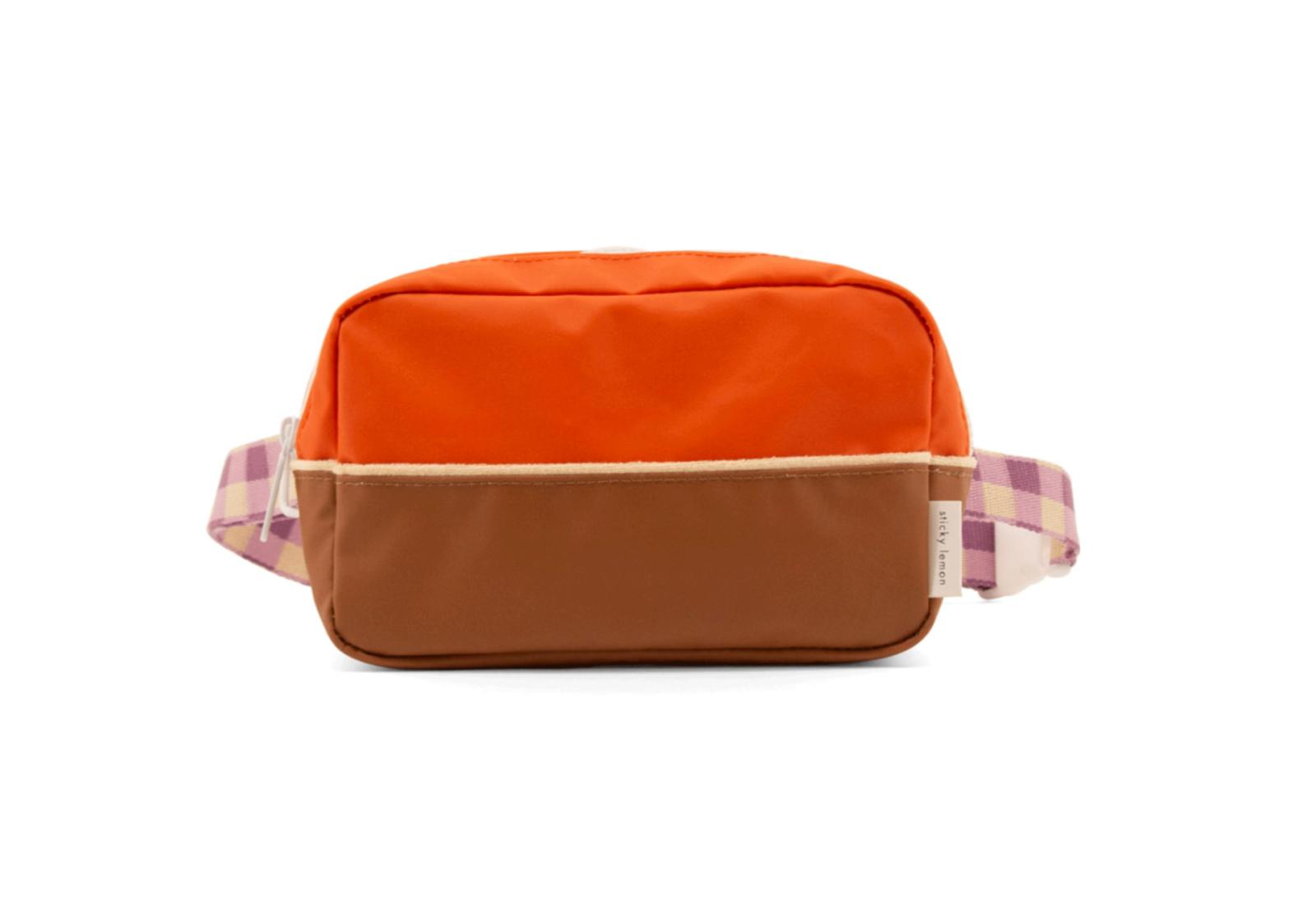 Gürteltasche large | orange & braun
