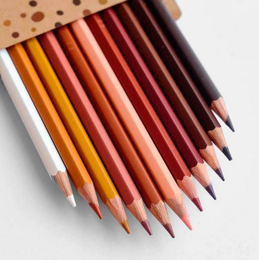 12 Hautfarben-Buntstifte | So bunt ist