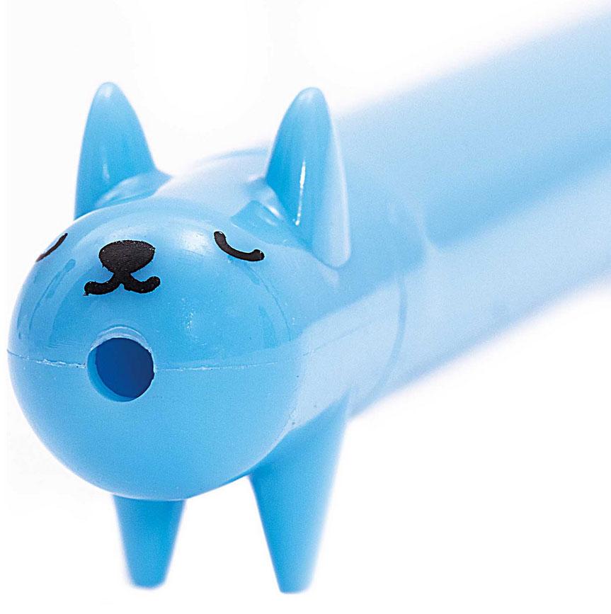 Kugelschreiber Hund blau 2