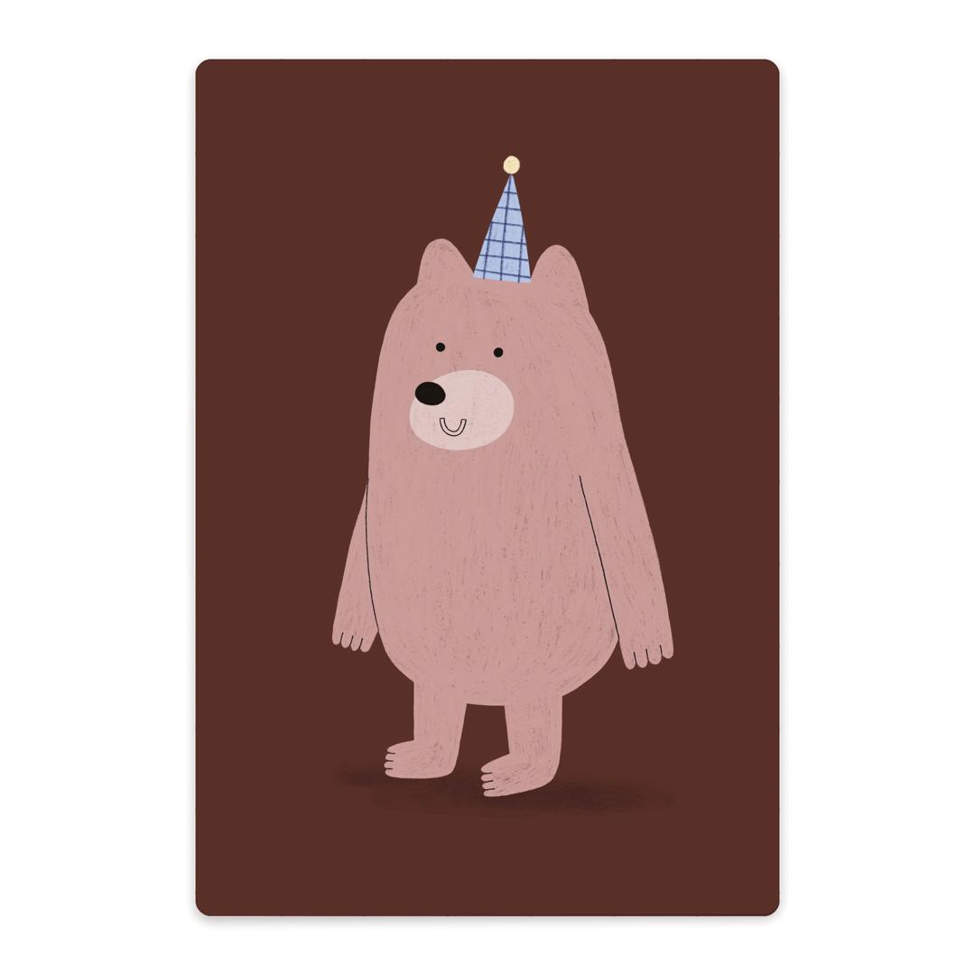 Kleines Schneidebrett | Bär mit Hut