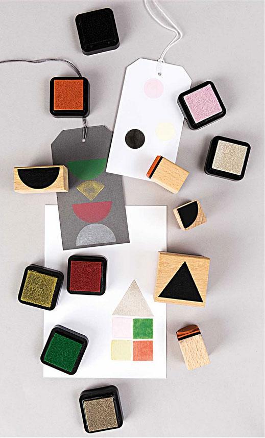 Stempelset geometrische Symbole rund 2