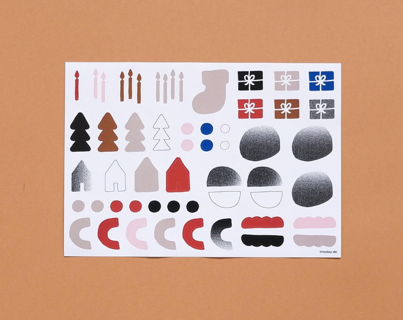 Adventskalender Sticker-Set 3