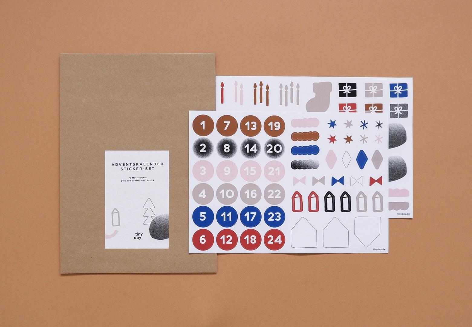 Adventskalender Sticker-Set