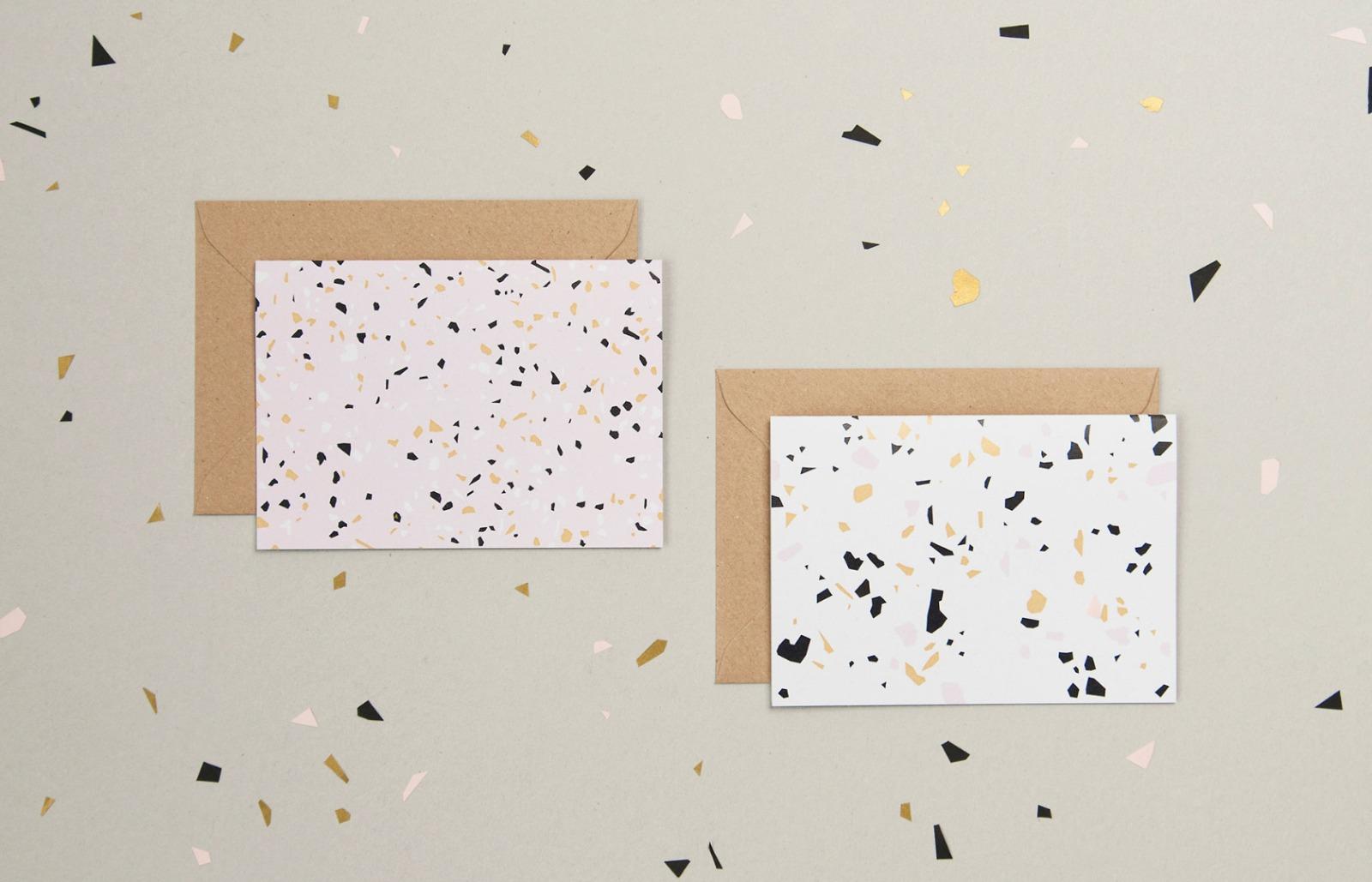 Terrazzo Postkarten-Set