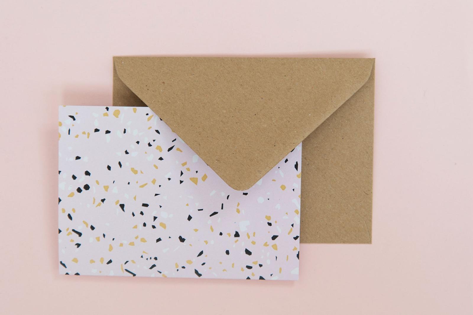 Terrazzo Postkarten-Set - 4