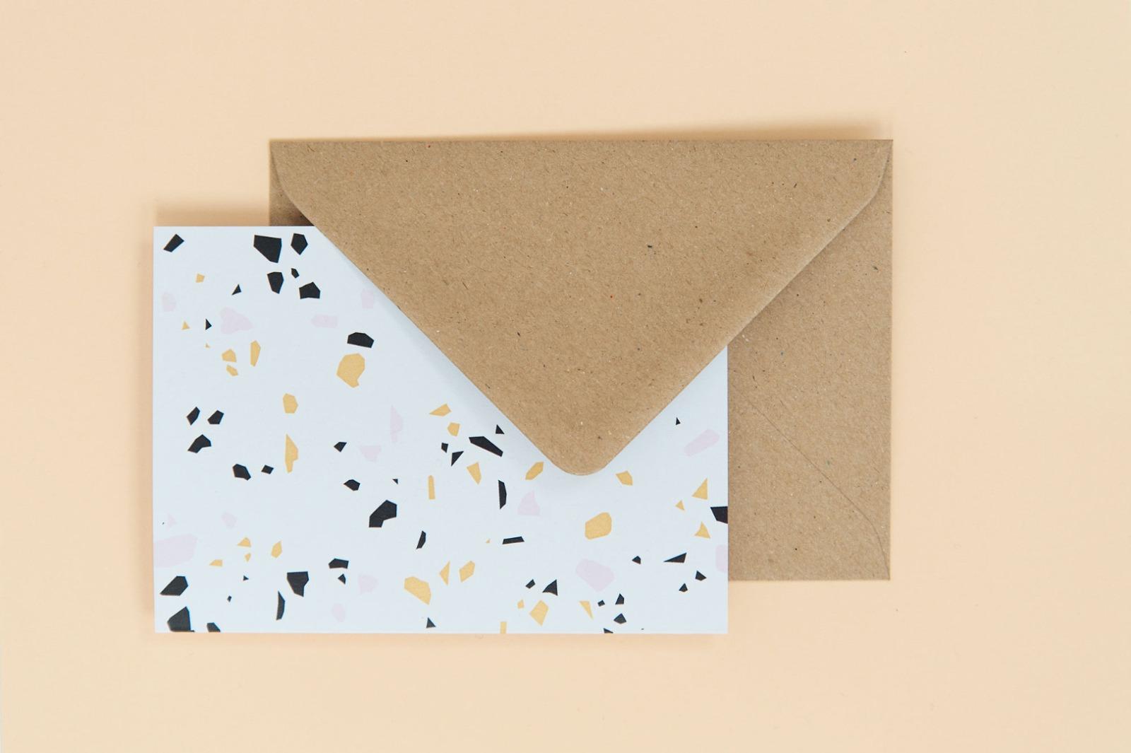 Terrazzo Postkarten-Set - 5
