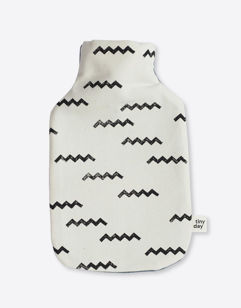 Wärmflasche | Motiv: zickzack