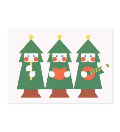 Weihnachten Musik - Postkarte