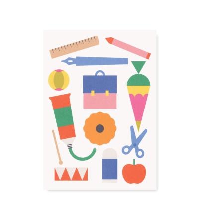Einschulung - Postkarte