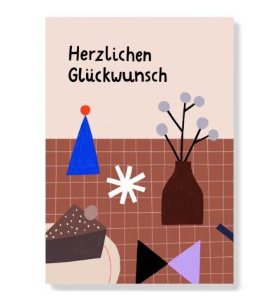 Herzlichen Glückwunsch - Postkarte