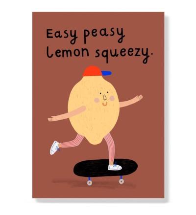 Easy peasy Lemon squeezy - Postkarte