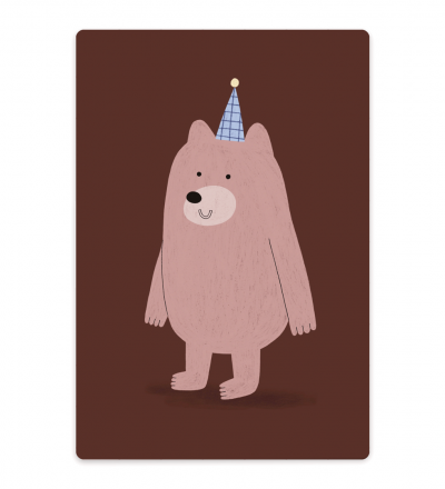 Kleines Schneidebrett Bär mit Hut Schneidebrett