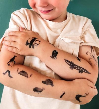 TATTOO Krokodil und seine Freunde Kinder-Tattoos