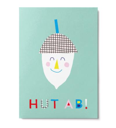 Hut ab - Postkarte