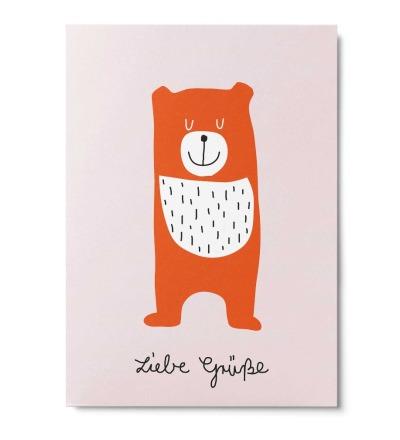 Liebe Grüße - Postkarte