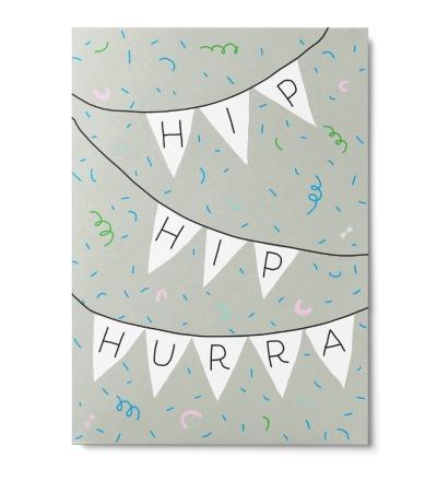 Hip Hip Hurra - Postkarte
