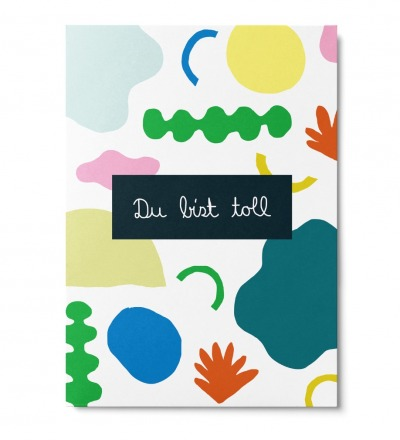 Du bist toll - Postkarte