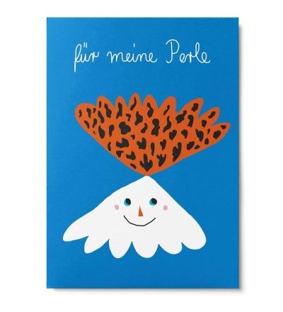 Meine Perle - Postkarte