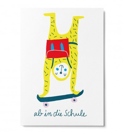 Ab in die Schule - Postkarte