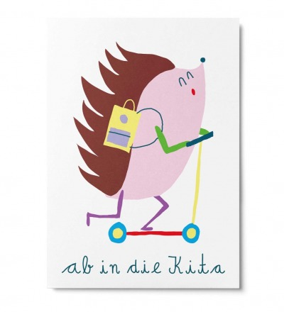 Ab in die Kita - Postkarte