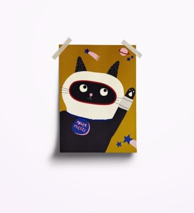 Powermietze - Postkarte