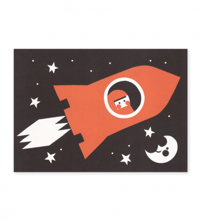 Rakete - Postkarte