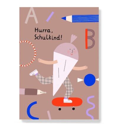 Hurra Schulkind - Postkarte