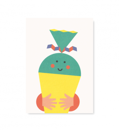 Schultüte - Postkarte