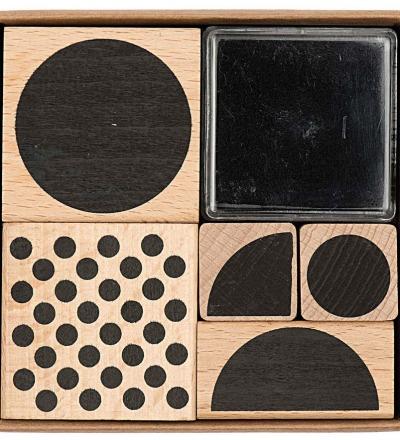 Stempelset geometrische Symbole rund Rico Design