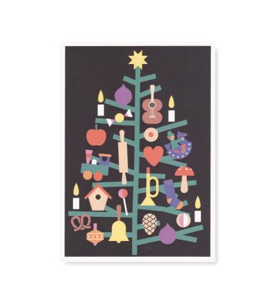 Tannenbaum - Postkarte